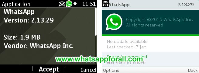 WhatsApp for Nokia Asha version 2.13.27