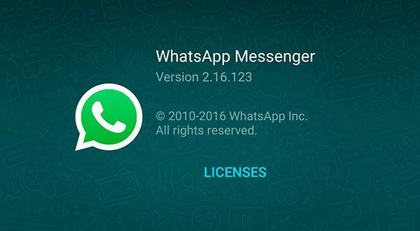 WhatsApp for Android is updated to version 2.16.123