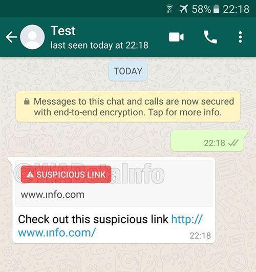 detect suspicious links