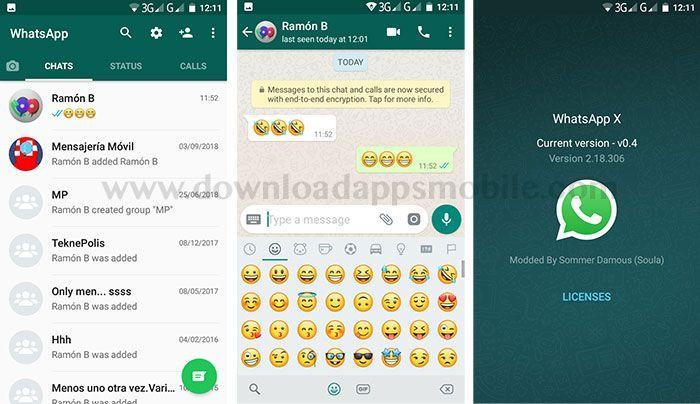 WhatsApp X image