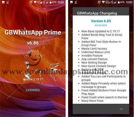 GBWhatsApp Transparent Prime 6.86