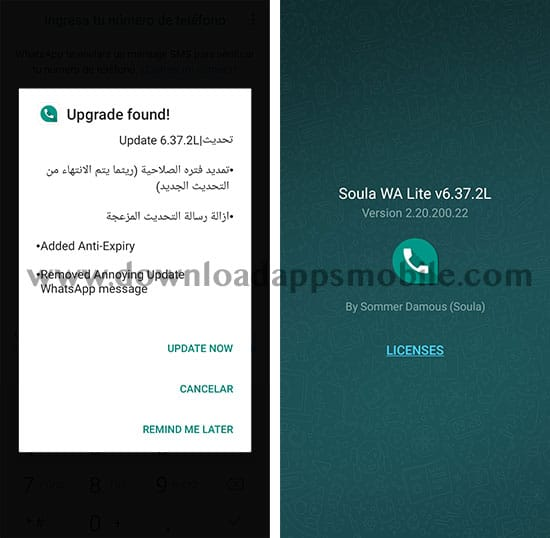 image with the latest features of Soula WA Lite 6.37.2L Extended