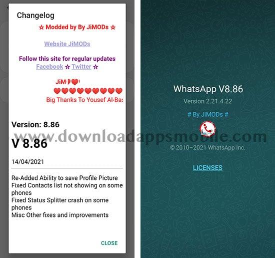 WhatsApp Plus JiMODs 8.86
